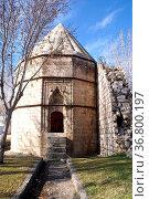 Entrance of muslim turbe in Karaman, Turkey. Стоковое фото, фотограф Zoonar.com/Valeriy Shanin / age Fotostock / Фотобанк Лори