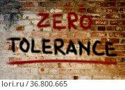 Zero Tolerance Concept. Стоковое фото, фотограф Zoonar.com/Krasimira Nevenova / easy Fotostock / Фотобанк Лори