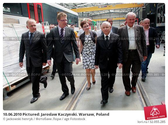 10.06.2010 Pictured: Jaroslaw Kaczynski. Warsaw, Poland. Редакционное фото, фотограф jackowski henryk / age Fotostock / Фотобанк Лори