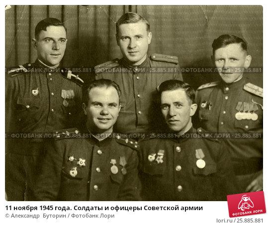 11 ноября 1945 года. Солдаты и офицеры Советской армии. Купить ...