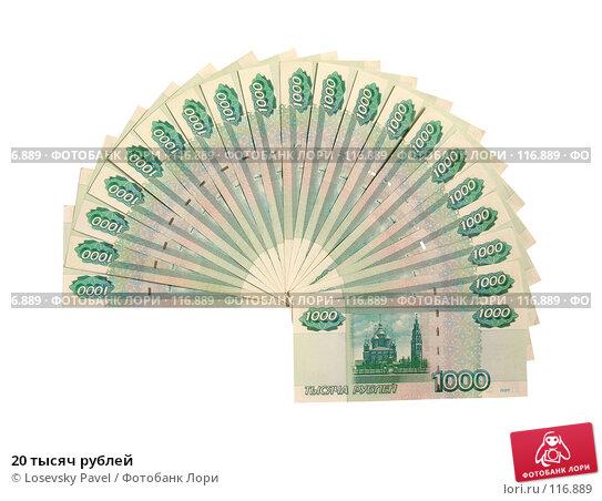 Купить «20 тысяч рублей», фото № 116889, снято 12 февраля 2006 г. (c) Losevsky Pavel / Фотобанк Лори