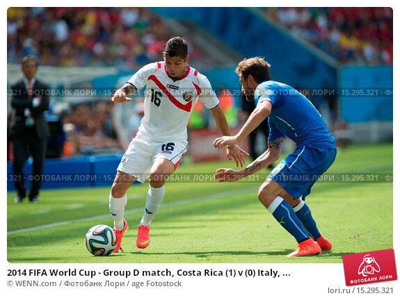 Купить «2014 FIFA World Cup - Group D match, Costa Rica (1) v (0) Italy, held at Arena Pernambuco Featuring: Cristian Gamboa,Claudio Marchisio Where: Recife, Brazil When: 20 Jun 2014 Credit: WENN.com», фото № 15295321, снято 20 июня 2014 г. (c) age Fotostock / Фотобанк Лори