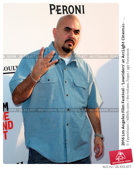 2016 Los Angeles Film Festival - 'Lowriders' at ArcLight Cinemas - Arrivals Featuring: Noel Gugliemi Where: Hollywood, California, United States When: 01 Jun 2016 Credit: FayesVision/WENN.com, фото № 26933417, снято 1 июня 2016 г. (c) age Fotostock / Фотобанк Лори