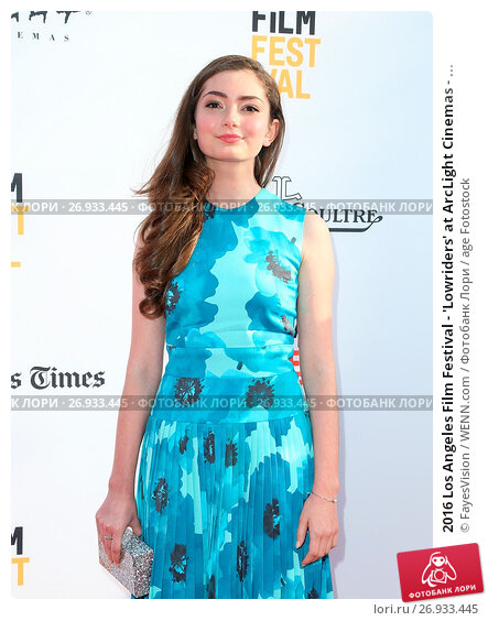 2016 Los Angeles Film Festival - 'Lowriders' at ArcLight Cinemas - Arrivals Featuring: Emily Robinson Where: Hollywood, California, United States When: 01 Jun 2016 Credit: FayesVision/WENN.com, фото № 26933445, снято 1 июня 2016 г. (c) age Fotostock / Фотобанк Лори