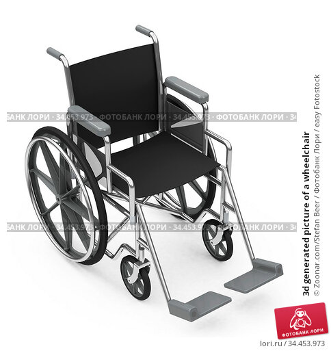 3d generated picture of a wheelchair. Стоковое фото, фотограф Zoonar.com/Stefan Beer / easy Fotostock / Фотобанк Лори
