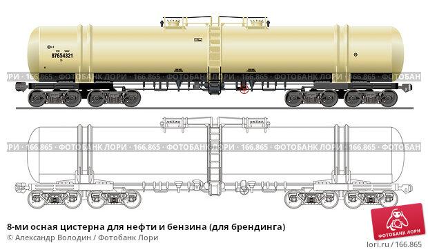 8-ми осная цистерна для нефти и бензина (для брендинга), иллюстрация № 166865 (c) Александр Володин / Фотобанк Лори