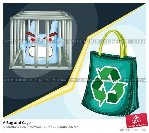 A Bag and Cage. Стоковая иллюстрация, иллюстратор Matthew Cole / PantherMedia / Фотобанк Лори