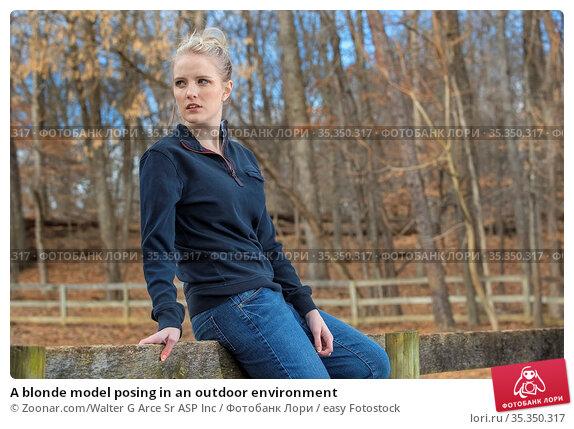 A blonde model posing in an outdoor environment. Стоковое фото, фотограф Zoonar.com/Walter G Arce Sr ASP Inc / easy Fotostock / Фотобанк Лори