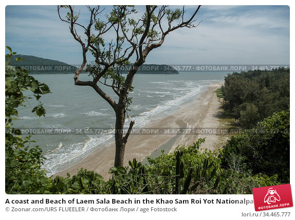 A coast and Beach of Laem Sala Beach in the Khao Sam Roi Yot Nationalpark... Стоковое фото, фотограф Zoonar.com/URS FLUEELER / age Fotostock / Фотобанк Лори