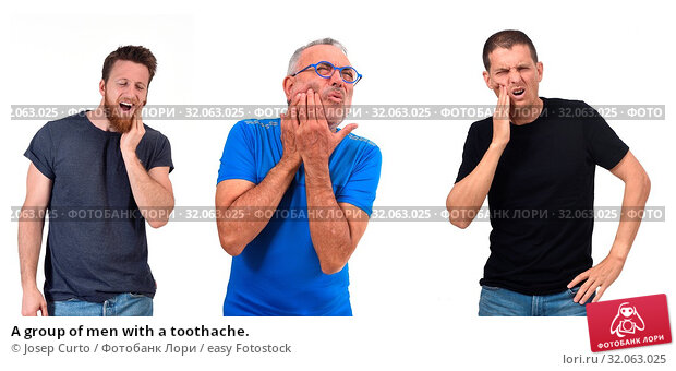 A group of men with a toothache. Стоковое фото, фотограф Josep Curto / easy Fotostock / Фотобанк Лори
