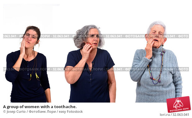 A group of women with a toothache. Стоковое фото, фотограф Josep Curto / easy Fotostock / Фотобанк Лори