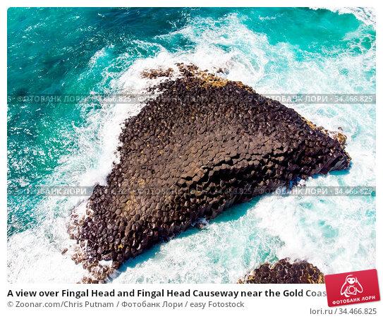 A view over Fingal Head and Fingal Head Causeway near the Gold Coast... Стоковое фото, фотограф Zoonar.com/Chris Putnam / easy Fotostock / Фотобанк Лори