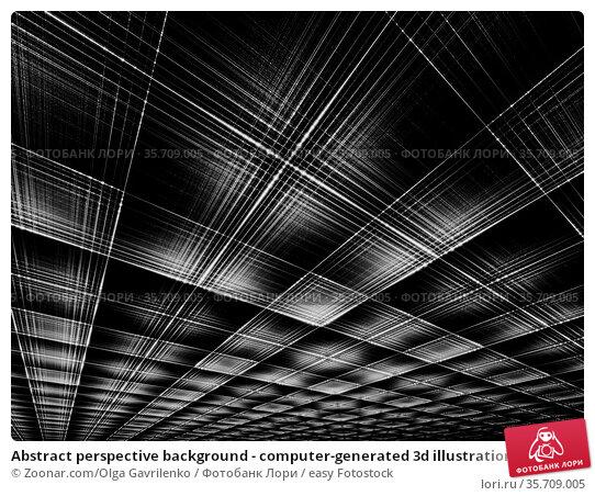 Abstract perspective background - computer-generated 3d illustration... Стоковое фото, фотограф Zoonar.com/Olga Gavrilenko / easy Fotostock / Фотобанк Лори