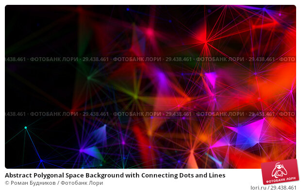 Купить «Abstract Polygonal Space Background with Connecting Dots and Lines», иллюстрация № 29438461 (c) Роман Будников / Фотобанк Лори