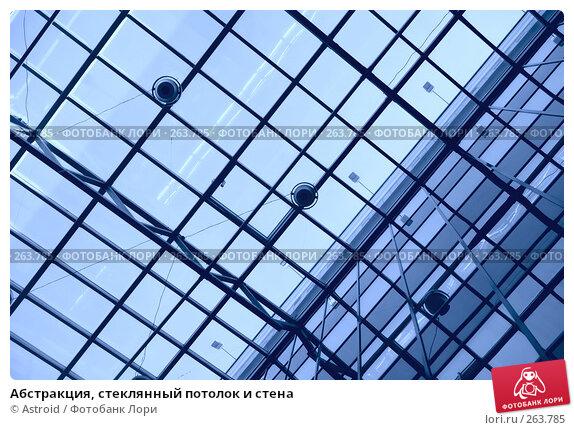 Абстракция, стеклянный потолок и стена, фото № 263785, снято 26 апреля 2008 г. (c) Astroid / Фотобанк Лори