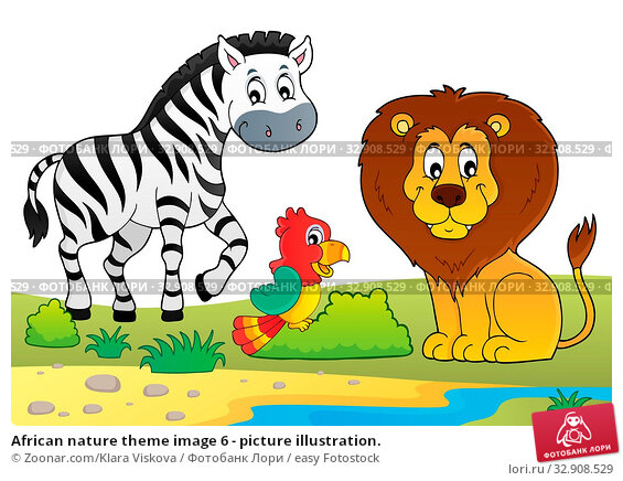 African nature theme image 6 - picture illustration. Стоковое фото, фотограф Zoonar.com/Klara Viskova / easy Fotostock / Фотобанк Лори