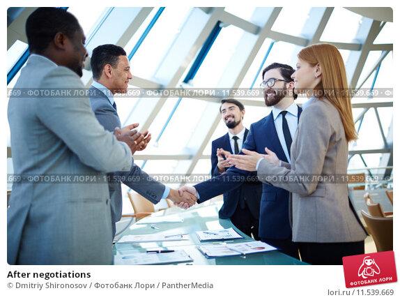 Купить «After negotiations», фото № 11539669, снято 5 июля 2020 г. (c) PantherMedia / Фотобанк Лори