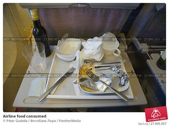 Купить «Airline food consumed», фото № 27995957, снято 21 апреля 2019 г. (c) PantherMedia / Фотобанк Лори