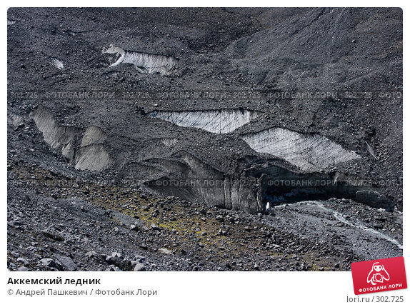 Аккемский ледник, фото № 302725, снято 23 июля 2017 г. (c) Андрей Пашкевич / Фотобанк Лори