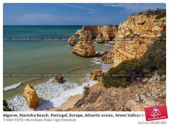 Купить «Algarve, Marinha beach, Portugal, Europe, Atlantic ocean, Seven Valleys trail.», фото № 30987961, снято 25 апреля 2019 г. (c) age Fotostock / Фотобанк Лори