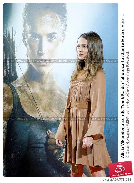 Купить «Alicia Vikander attends 'Tomb Raider' photocall at Santo Mauro Hotel in Madrid, Spain Featuring: Alicia Vikander Where: Madrid, Spain When: 28 Feb 2018 Credit: Oscar Gonzalez/WENN.com», фото № 29775281, снято 28 февраля 2018 г. (c) age Fotostock / Фотобанк Лори