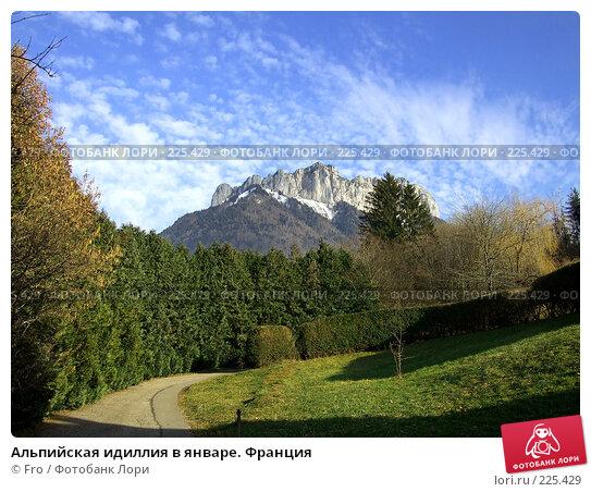 Купить «Альпийская идиллия в январе. Франция», фото № 225429, снято 29 января 2008 г. (c) Fro / Фотобанк Лори
