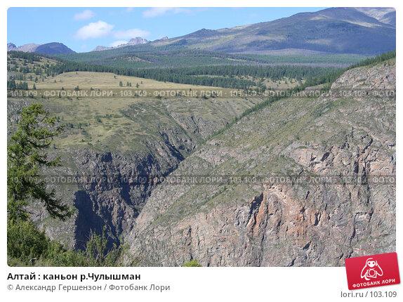 Купить «Алтай : каньон р.Чулышман», фото № 103109, снято 21 апреля 2018 г. (c) Александр Гершензон / Фотобанк Лори