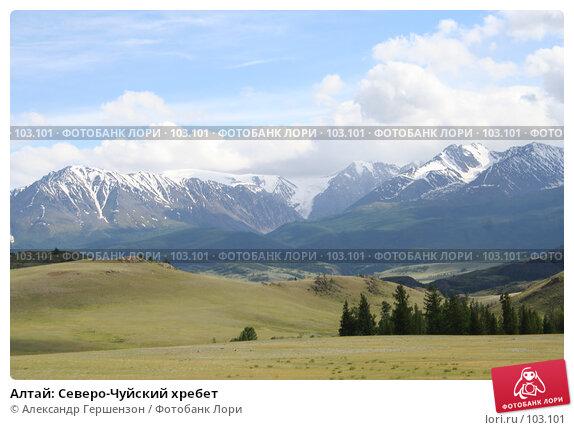 Алтай: Северо-Чуйский хребет, фото № 103101, снято 22 января 2017 г. (c) Александр Гершензон / Фотобанк Лори