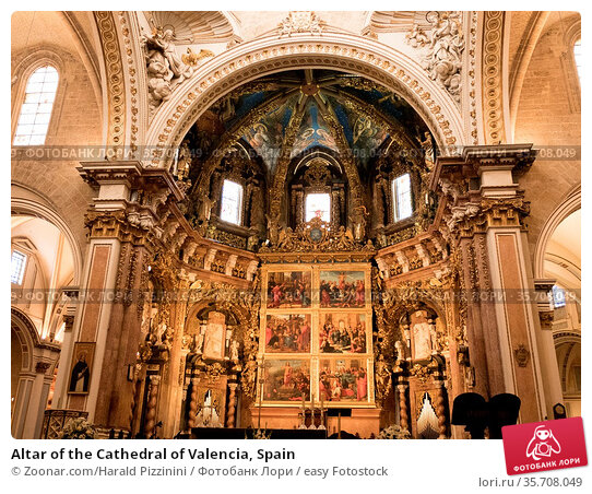 Altar of the Cathedral of Valencia, Spain. Стоковое фото, фотограф Zoonar.com/Harald Pizzinini / easy Fotostock / Фотобанк Лори
