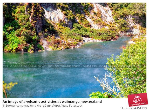 An image of a volcanic activities at waimangu new zealand. Стоковое фото, фотограф Zoonar.com/magann / easy Fotostock / Фотобанк Лори