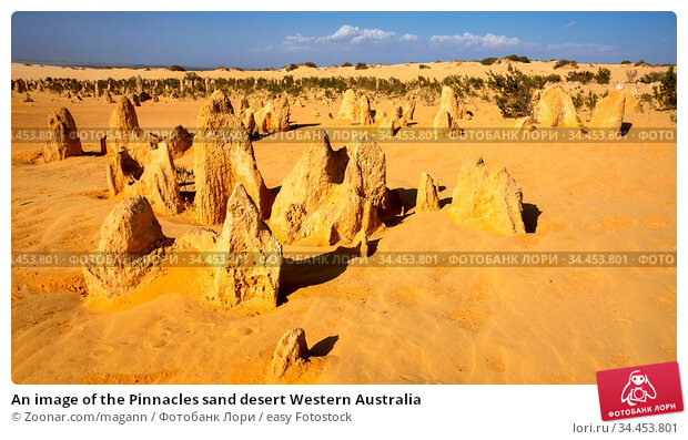 An image of the Pinnacles sand desert Western Australia. Стоковое фото, фотограф Zoonar.com/magann / easy Fotostock / Фотобанк Лори