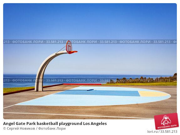Купить «Angel Gate Park basketball playground Los Angeles», фото № 33581213, снято 16 апреля 2015 г. (c) Сергей Новиков / Фотобанк Лори