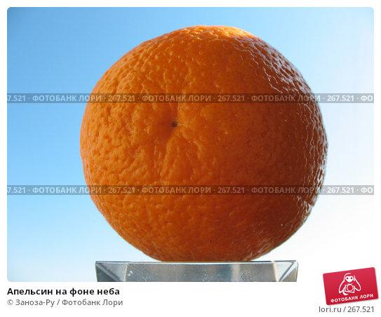 Апельсин на фоне неба, фото № 267521, снято 26 апреля 2008 г. (c) Заноза-Ру / Фотобанк Лори