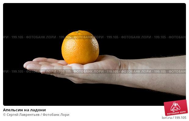 Апельсин на ладони, фото № 199105, снято 7 февраля 2008 г. (c) Сергей Лаврентьев / Фотобанк Лори