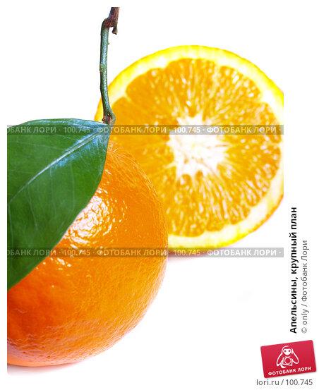 Апельсины, крупный план, фото № 100745, снято 21 февраля 2007 г. (c) only / Фотобанк Лори