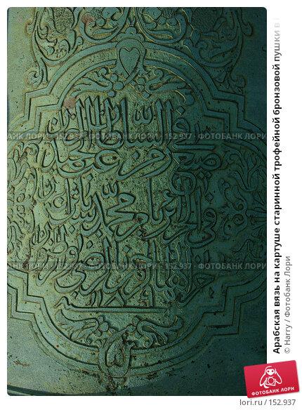 Арабская вязь на картуше старинной трофейной бронзовой пушки в Париже, Франция, фото № 152937, снято 28 февраля 2006 г. (c) Harry / Фотобанк Лори
