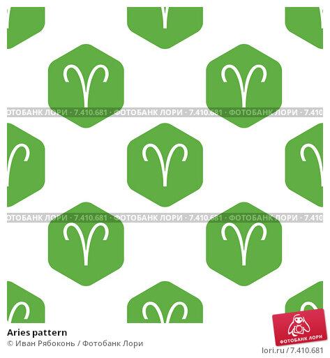 Купить «Aries pattern», иллюстрация № 7410681 (c) Иван Рябоконь / Фотобанк Лори