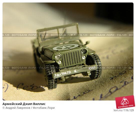 Купить «Армейский Джип Виллис», фото № 116129, снято 7 сентября 2004 г. (c) Андрей Лавренов / Фотобанк Лори