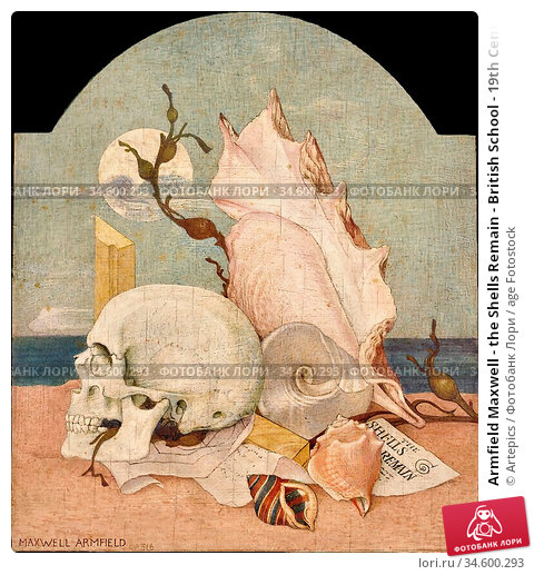Armfield Maxwell - the Shells Remain - British School - 19th Century. Стоковое фото, фотограф Artepics / age Fotostock / Фотобанк Лори