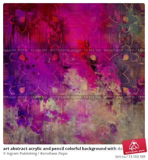 Купить «art abstract acrylic and pencil colorful background with damask pattern in pink, magenta, beige and blue colors», фото № 13103169, снято 22 ноября 2019 г. (c) Ingram Publishing / Фотобанк Лори