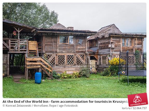 At the End of the World Inn - farm accommodation for tourists in Kruszyniany village, Podlasie region of Poland. Стоковое фото, фотограф Konrad Zelazowski / age Fotostock / Фотобанк Лори