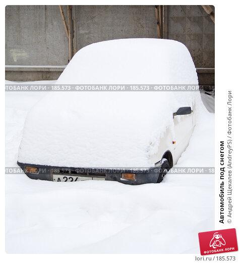 Автомобиль под снегом, фото № 185573, снято 25 января 2008 г. (c) Андрей Щекалев (AndreyPS) / Фотобанк Лори