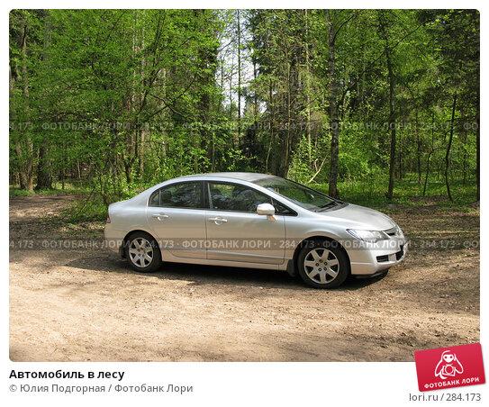 Купить «Автомобиль в лесу», фото № 284173, снято 10 мая 2008 г. (c) Юлия Селезнева / Фотобанк Лори