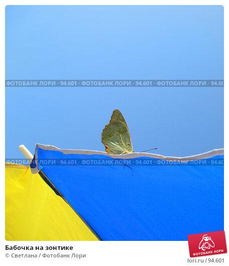 Бабочка на зонтике, фото № 94601, снято 25 августа 2007 г. (c) Светлана / Фотобанк Лори