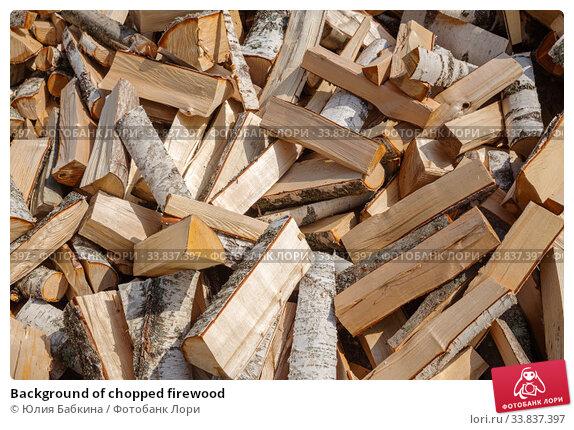 Купить «Background of chopped firewood», фото № 33837397, снято 9 мая 2019 г. (c) Юлия Бабкина / Фотобанк Лори