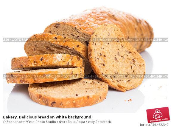 Bakery. Delicious bread on white background. Стоковое фото, фотограф Zoonar.com/Yeko Photo Studio / easy Fotostock / Фотобанк Лори