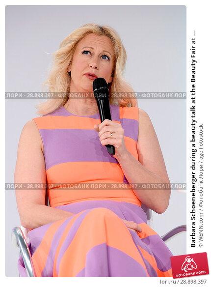 Купить «Barbara Schoeneberger during a beauty talk at the Beauty Fair at Duesseldorf Messe. Featuring: Barbara Schoeneberger Where: Duesseldorf, Germany When: 02 Apr 2017 Credit: WENN.com», фото № 28898397, снято 2 апреля 2017 г. (c) age Fotostock / Фотобанк Лори