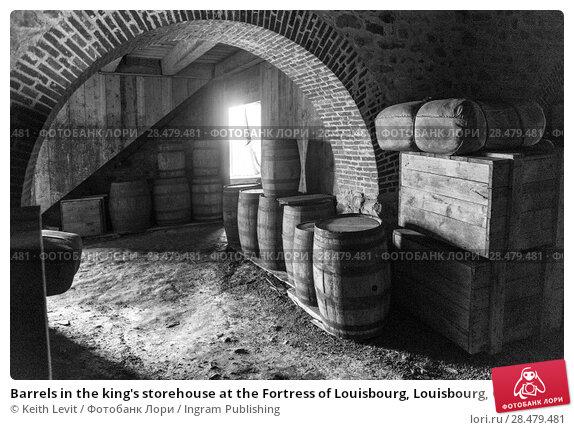 Купить «Barrels in the king's storehouse at the Fortress of Louisbourg, Louisbourg, Cape Breton Island, Nova Scotia, Canada», фото № 28479481, снято 13 июня 2016 г. (c) Ingram Publishing / Фотобанк Лори