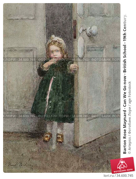 Barton Rose Maynard - Can We Go now - British School - 19th Century. Стоковое фото, фотограф Artepics / age Fotostock / Фотобанк Лори