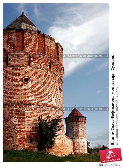 Башни Спасо-Евфимиева монастыря, Суздаль, фото № 43917, снято 13 августа 2006 г. (c) Vladimir Fedoroff / Фотобанк Лори